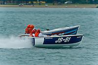 "13 July 2008  APBA Gold Cup.JS-81, Jersey Speed Skiff, JS-78 ""Flyin High"", Jersey Speed Skiff.©2008 F.Peirce Williams."
