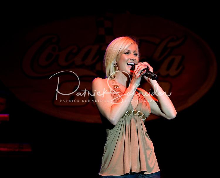 Singer/Songwriter Kellie Pickler performs during Food Lion Speed Street in uptown Charlotte, NC.