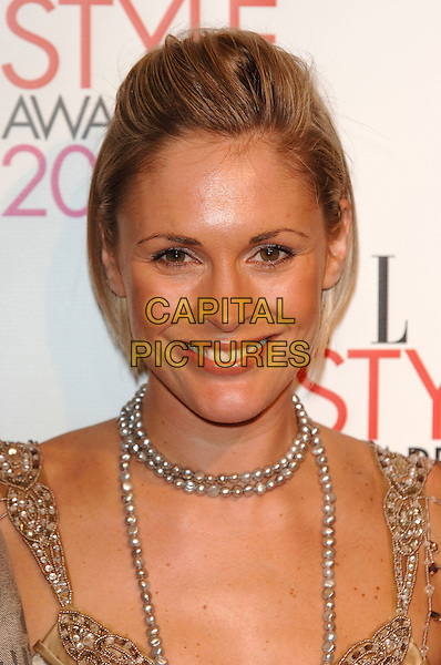 JENNI FALCONER.Elle Style Awards 2006.The Old Truman Brewery, Brick Lane.London, England.20th February 20th, 2006..half length necklace beads jenny .Ref: PL.www.capitalpictures.com.sales@capitalpictures.com.©Phil Loftus/Capital Pictures.