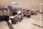 A construction crew in Terminal A at Hartsfield–Jackson Atlanta International Airport, in Atlanta, Georgia on August 28, 2013.