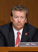"""United States Senator Rand Paul (Republican of Kentucky), a member of the U.S. Senate Foreign Relations Committee, listens to testimony during the hearing on """"Authorization of Use of Force in Syria"""" on Capitol Hill in Washington, D.C. on Tuesday, September 3, 2013.<br /> Credit: Ron Sachs / CNP"""
