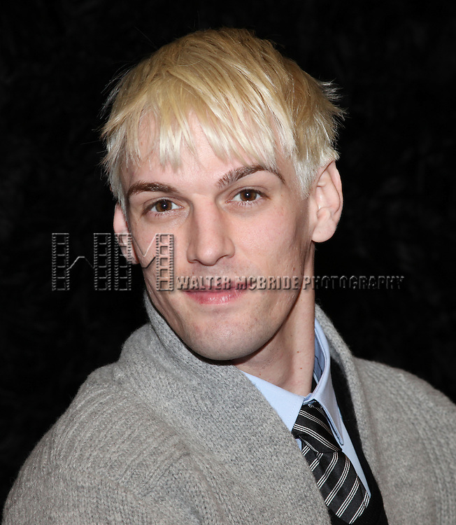 Aaron Carter in Rehearsals with creator Tom Jones for his Off-Broadway stage debut in 'The Fantasticks' at Snapple Theater Center in New York City.
