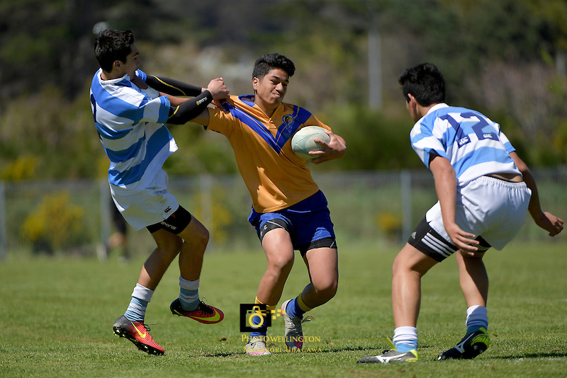 Rugby League Johnny Lomax Cup U15 Final - Rongotai College v Silverstream at Wainuiomata High School, Lower Hutt, New Zealand on Saturday 22 October 2016.<br /> Photo by Masanori Udagawa. <br /> www.photowellington.photoshelter.com.