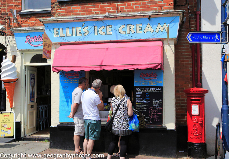 Ellie's ice cream shop, Sheringham, Norfolk, England, UK