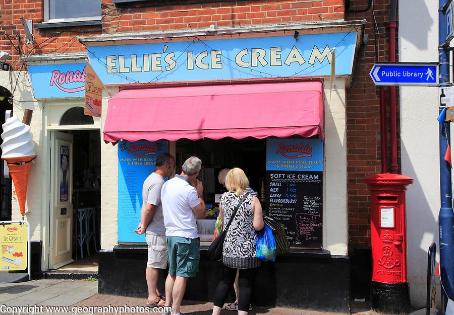 Ellie's ice cream shop, Sheringham, Norfolk, England, UK