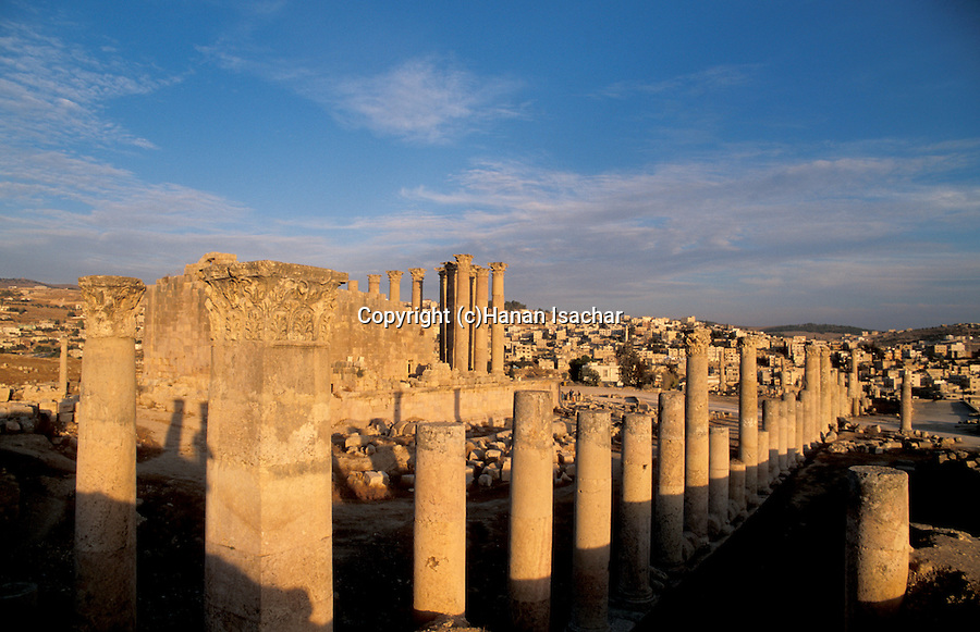 Jordan, Jerash. The Temple of Artemis, built around the middle of the 2nd century A.D&#xA;&#xA;<br />