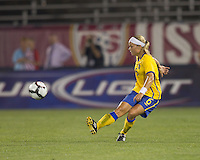 Sweden defender Sara Thunebro (6). The US Women's national team beat Sweden, 3-0, at Rentschler Field on July 17, 2010.