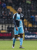 Aaron Pierre of Wycombe Wanderers during the Sky Bet League 2 match between Notts County and Wycombe Wanderers at Meadow Lane, Nottingham, England on 28 March 2016. Photo by Andy Rowland.