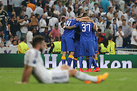 Juventus players celebrating