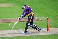 Picture by Harry Whitehead/SWpix.com - 02/05/2014 - County Cricket - Yorkshire Vikings 2nd XI v Lancashire Lightining 2nd XI - Headingley Stadium, Leeds, Yorkshire, England  - Jonathan Bairstow hits out T20