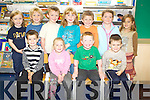 Caleb Brosnan, Cara Rawson, Dylan O'Sullivan, Tomas Geoghegan, Leah O'Sullivan, Asher Grant, Darragh murphy, Abbey Vermeher, George Deane, Aisling Rochford and Fai Hughes settle into the 2008 junior infants class in Realt na Mara in Kenmare.   Copyright Kerry's Eye 2008