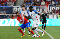 Harrison, NJ - Friday Sept. 01, 2017: Bryan Ruiz, Jozy Altidore during a 2017 FIFA World Cup Qualifier between the United States (USA) and Costa Rica (CRC) at Red Bull Arena.