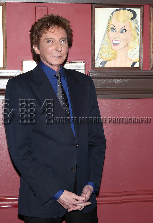 Barry Manilow celebrates Valentines Day with a beloved Broadway tradition.  Sardi's adds a caricature of pop icon to its legendary walls presented  by the American Theatre Wing Executive Director Heather Hitchens and Restaurant Owner Max Klimavicius at Sardi's in New York City on 2/14/2013