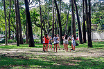 Ensaio da fanfarra da escola ESPM, parque do Ibirapuera, Sao Paulo. 2018. Foto © Juca Martins.