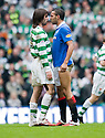 :: CELTIC'S GEORGIOS SAMARAS AND RANGERS' KYLE BARTLEY FACE UP TO ONE ANOTHER ::
