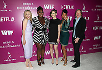 LOS ANGELES, CA - MAY 12: Sarah Gadon, Danielle Brooks, Alison Brie, Regina King, Cindy Holland, at Netflix - Rebels And Rules Breakers For Your Consideration Event at Netflix FYSee Space At Raleigh Studios in Los Angeles, California on May 12, 2018. <br /> CAP/MPI/FS<br /> &copy;FS/MPI/Capital Pictures