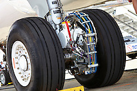 EGTS Green aircraft taxiing equipment close up