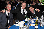 St Johnstone FC Scottish Cup Celebration Dinner at Perth Concert Hall...01.02.15<br /> Alan Mannus, Brian Easton and Steven MacLean<br /> Picture by Graeme Hart.<br /> Copyright Perthshire Picture Agency<br /> Tel: 01738 623350  Mobile: 07990 594431