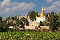 Myanmar, (Burma), Mandalay-Division, Inwa, bei Mandalay: Mahar Aung Mye Bon San Monastery, built in 1822 | Myanmar (Birma), Mandalay-Division, Inwa, bei Mandalay: Mahar Aung Mye Bon San Kloster, erbaut 1822