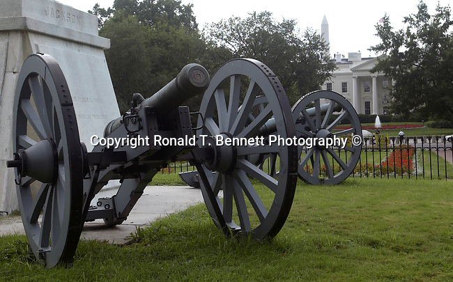 White House and cannons, Washington, D.C. fine art photography by Ron Bennett (c). Copyright, The White House Washington, D.C., White House is the official residence The President of the United States, President of the United States of America, 1600 Pennsylvania Avenue NW Washington D.C., White House built 1792-1800, White House is Executive Residence of First Family, residence of every US President since John Adams, West wing, Oval Office, East Wing, West Wing, Executive Office of the President of the United States, West wing is Oval office Cabinet Room Roosevelt room, East wing is First Lady and White House Social Secretary, Old Executive Office Building, Vice President,  Washington D.C. fine art photography by Ron Bennett (c). Copyright, Fine Art Photography by Ron Bennett, Fine Art, Fine Art photo, Art Photography,