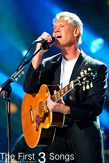 Randy Travis performs at LP Field during Day 2 of the 2013 CMA Music Festival in Nashville, Tennessee.