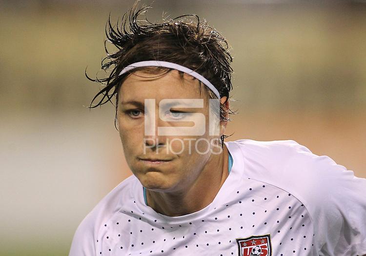 BOCA RATON, FL - DECEMBER 15, 2012: Abby Wambach (14) of the USA WNT during an international friendly match against China at FAU Stadium, in Boca Raton, Florida, on Saturday, December 15, 2012. USA won 4-1.