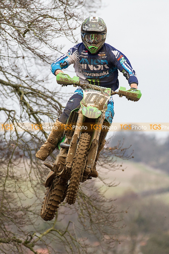 Tommy Searle, Monster Energy DRT Kawasaki raced home 9 seconds ahead of defending champion Sean Simpson in the opening MX1 encounter during Maxxis ACU British Motocross at Cadders Hill MX Circuit, Lyng on 20th March 2016