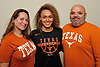Celeste Taylor, Long Island Lutheran girls basketball standout, poses for a portrait at the school with mother Selene Navarro and father Alex Navarro after signing a letter of intent to play college basketball at the University of Texas on Wednesday, Nov. 14, 2018.