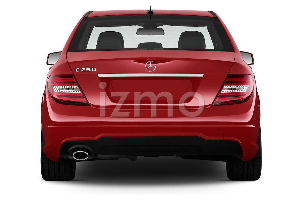 Straight rear view of a 2013 Mercedes-Benz C250 Sport Sedan