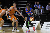 Jerry Evans Jr (Giants) in action during the national basketball league semifinal match between Nelson Giants and Southland Sharks at TSB Bank Arena in Wellington, New Zealand on Saturday, 4 August 2018. Photo: Dave Lintott / lintottphoto.co.nz