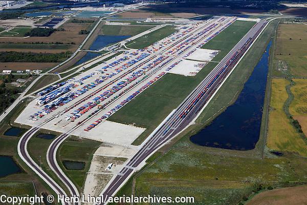 aerial photograph Union Pacific Joliet Intermodal Terminal, Joliet, Illinois
