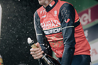 race winner Vincenzo Nibali (ITA/Bahrain-Merida) celebrating on the podium in Como<br /> <br /> Il Lombardia 2017<br /> Bergamo to Como (ITA) 247km