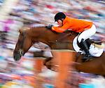 Engeland, London, 8 augustus 2012.Olympische Spelen London.PaardenSport .Greco Schoder van nederland wint met zijn paard London het Zilver op het onderdeel Jumping individueel