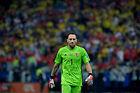 SAO PAULO – BRASIL, 28-06-2019: David Ospina arquero de Colombia en acción en la tanda de penales definitorios durante partido por cuartos de final de la Copa América Brasil 2019 entre Colombia y Chile jugado en el Arena Corinthians de Sao Paulo, Brasil. / David Ospina goalkeeper of Colombia in action in a shootout during the Copa America Brazil 2019 quarter-finals match between Colombia and Chile played at Arena Corinthians in Sao Paulo, Brazil. Photos: VizzorImage / Julian Medina / Cont /