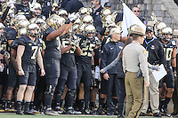 Annapolis, MD - December 27, 2016: Wake Forest Demon Deacons before game between Temple and Wake Forest at  Navy-Marine Corps Memorial Stadium in Annapolis, MD.   (Photo by Elliott Brown/Media Images International)