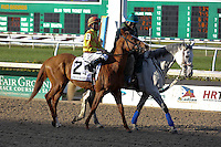 January 17, 2015:  Pumpkin Rumble (PA) with Miguel Mena in the Col. E.R. Bradley Handicap at the New Orleans Fairgrounds course. Steve Dalmado/ESW/CSM
