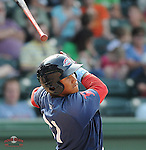 Photo of the Greenville Drive, Class A affiliate of the Boston Red Sox, in a game against the Asheville Tourists on May 1, 2011, at Fluor Field at the West End in Greenville, S.C. Photo by Tom Priddy / Four Seam Images