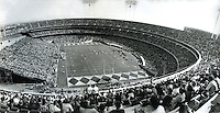 Opening day of the Oakland-Alameda County Coliseum<br />Sept 18,1966.,  50,746 fans pack the stands for the Oakland Raiders vs. the Kansas City Chiefs NFL game.<br />(photo by Ron Riesterer/Photoshelter)