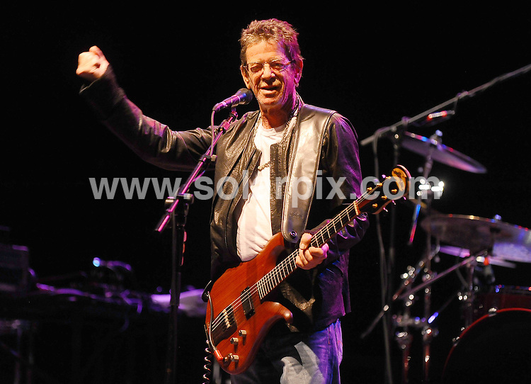 **ALL ROUND PICTURES FROM SOLARPIX.COM**                                             **WORLDWIDE SYNDICATION RIGHTS**                                                                                  Caption: Lou Reed performs in concert at The HMV Hammersmith Apollo, London, UK. 4th July 2011                                                                           This pic: Lou Reed                                                                                   JOB REF: 13675 TLP       DATE: 04_07_2011                                                            **MUST CREDIT SOLARPIX.COM OR DOUBLE FEE WILL BE CHARGED**                                                                      **MUST AGREE FEE BEFORE ONLINE USAGE**                               **CALL US ON: +34 952 811 768 or LOW RATE FROM UK 0844 617 7637**