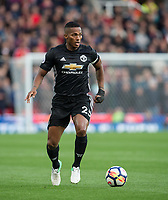 Luis Antonio Valencia of Man Utd during the Premier League match between Stoke City and Manchester United at the Britannia Stadium, Stoke-on-Trent, England on 9 September 2017. Photo by Andy Rowland.