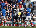 Elgin's Jamie Duff celebrates after opening the scoring at Ibrox