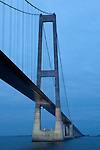Great Belt Bridge, Storebæltsforbindelsen,  in Denmark, connecting the islands of Zealand and Funen.