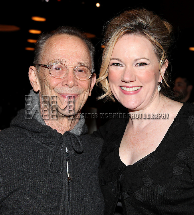 Joel Grey & Kathleen Marshall.attending the Opening Night Performance Gypsy Robe Ceremony for Recipient Joyce Chittick for The Roundabout Theatre Company's Broadway Production of 'Anything Goes'  in New York City.