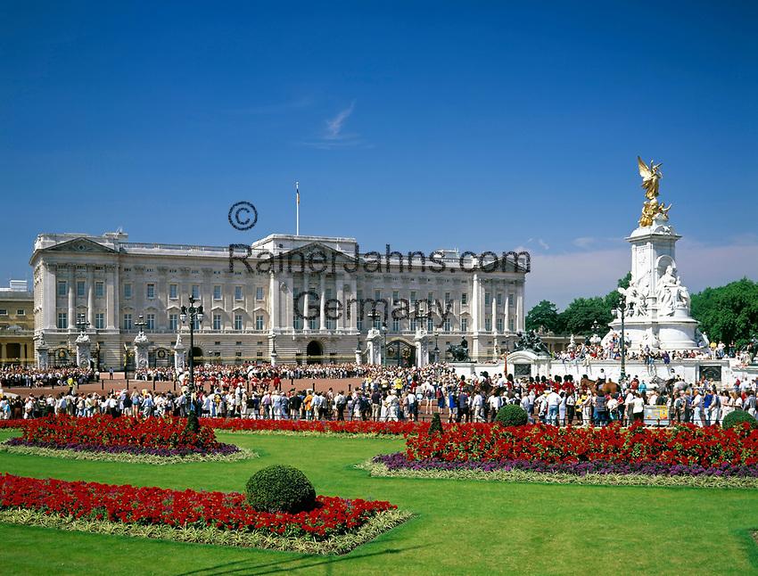 England, London: Buckingham Palace und Victoria Denkmal   United Kingdom, London: Buckingham Palace and Victoria Monument