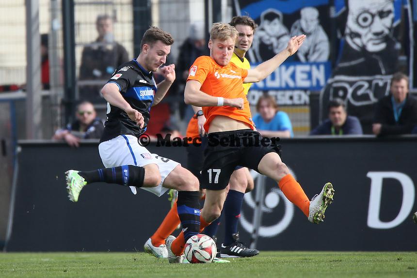 Florian Ballas (FSV) gegen Hanno Behrens (SV98) - FSV Frankfurt vs. SV Darmstadt 98, Frankfurter Volksbank Stadion