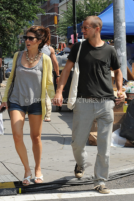 WWW.ACEPIXS.COM . . . . . ....August 21 2009, New York City....Logan Marshall Green and Marisa Tomei were seen visiting the set of the new movie 'Letters to Juliet' in Soho on August 21 2009 in New York City. ........Please byline: KRISTIN CALLAHAN - ACEPIXS.COM.. . . . . . ..Ace Pictures, Inc:  ..(212) 243-8787 or (646) 679 0430..e-mail: picturedesk@acepixs.com..web: http://www.acepixs.com