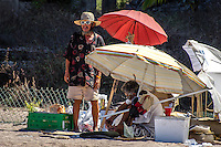 Urban Street Photo of squatters living on the beach in Puerto Vallarta Mexico?