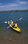 CA, california, kayakers at Tomales Bay, Point Reyes..Photo camari203.   .Photo Copyright: Lee Foster, www.fostertravel.com, 510-549-2202, lee@fostertravel.com