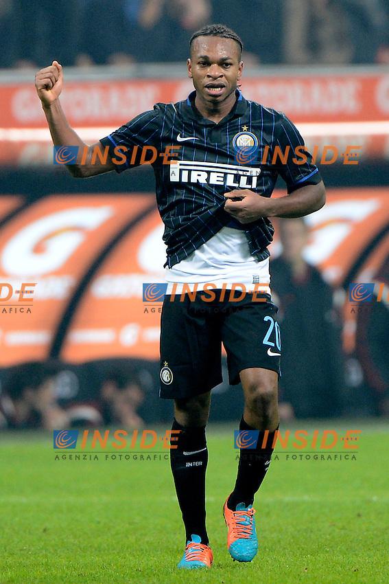 Esultanza gol di Joel Obi Inter 1-1. Celebration goal<br /> Milano 23-11-2014 Stadio Giuseppe Meazza - Football Calcio Serie A Milan - Inter. Foto Giuseppe Celeste / Insidefoto