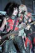 NEW YORK CITY, NY JANUARY 30: Vince Neil and Nikki Sixx of Motley Crue perform at Madison Square Garden on on January 30, 1984 in New York City, New York.  photo by Larry Marano (C) 1984.